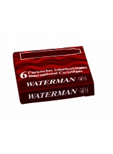 Waterman Naboje International (6szt) Czerwony